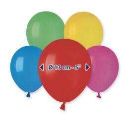 """5"""" Διάφορα Χρώματα λάτεξ μπαλόνια"""