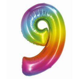 Μπαλόνι Αριθμός 9 Rainbow