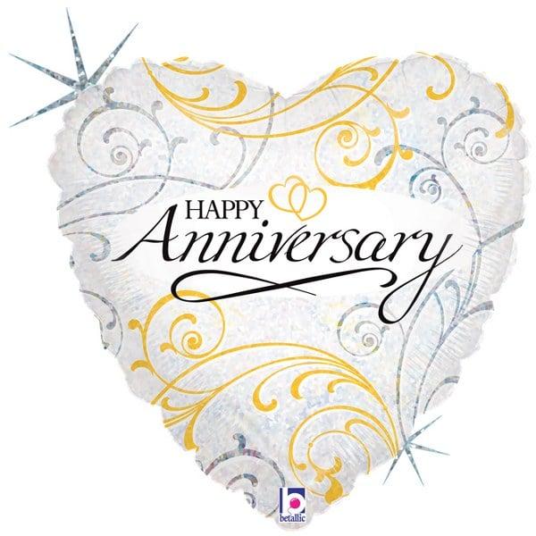 """Μπαλόνι Επετείου Καρδιά """"Happy Anniversary"""""""
