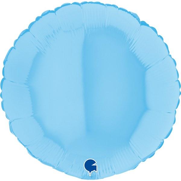 Μπαλόνι στρογγυλό Γαλάζιο matte