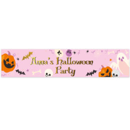 Banner Halloween Pinky Boo