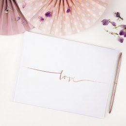 Βιβλίο Ευχών Love ροζ-χρυσό