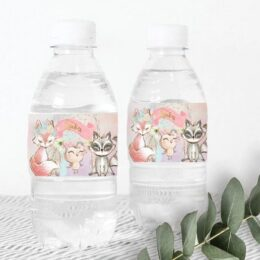 Ετικέτες για μπουκάλια νερού Boho Woodland
