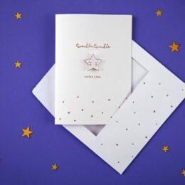 Ευχετήρια Κάρτα Twinkle με αποσπώμενη καρφίτσα Αστεράκι