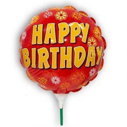 "10"" Mini Shape Μπαλόνι Happy Birthday κόκκινο"