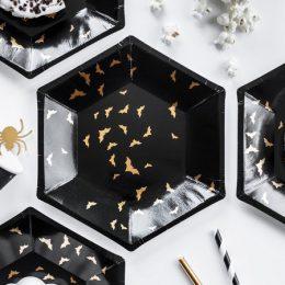 Πιάτα πάρτυ χρυσές Νυχτερίδες (6 τεμ)
