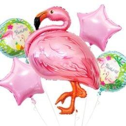 Σετ μπαλόνια Φλαμίνγκο (5 τεμ)
