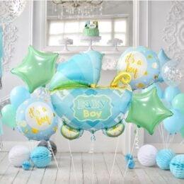 Σετ μπαλόνια γέννησης Καροτσάκι Boy