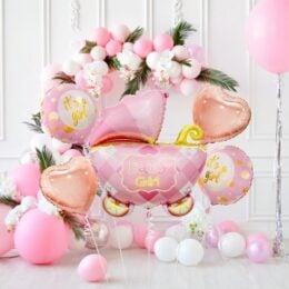 Σετ μπαλόνια γέννησης Καροτσάκι Girl