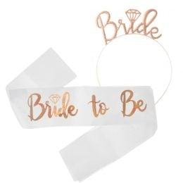 Σετ Κορδέλα και Στέκα Bride to Be