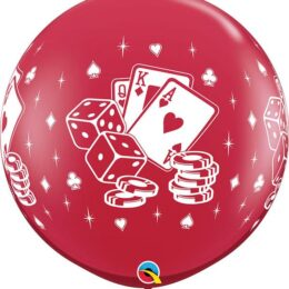 Κόκκινο τεράστιο Μπαλόνι Πόκερ