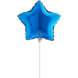 "10"" Mini Shape μπαλόνι Μπλε Αστέρι"