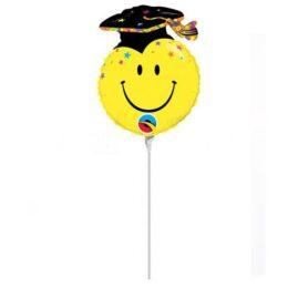 "10"" Mini Shape Μπαλόνι Smile Face Grad"