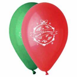 """12"""" Μπαλόνι τυπωμένο Merry Christmas"""