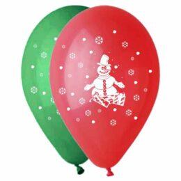 Μπαλόνι τυπωμένο Xmas Χιονάνθρωπος