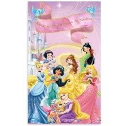 Αφίσα Πόρτας με μήνυμα Πριγκίπισσες Disney