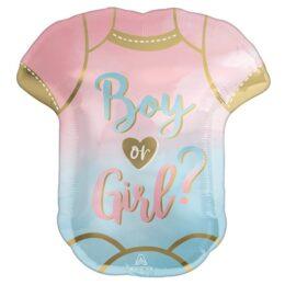 """Μπαλόνι φορμάκι the Big Reveal """"Boy or Girl"""""""