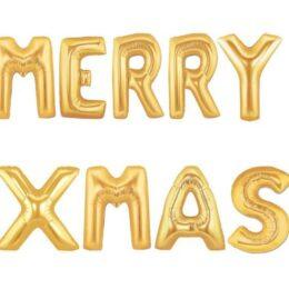 """Μπαλόνια φράση """"Merry Xmas"""""""