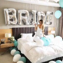 Τεράστια Μπαλόνια Γράμματα Ασημί 100cm