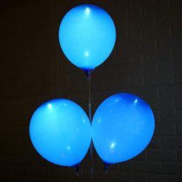 """12"""" Γαλάζιο Μπαλόνι με φωτάκι LED"""