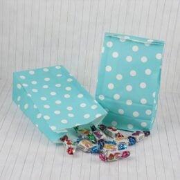 Γαλάζιο πουά σακουλάκι για δώρο