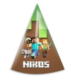 Καπελάκια πάρτυ Minecraft (6 τεμ)