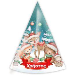 Καπελάκια Χριστουγεννιάτικα Ζωάκια
