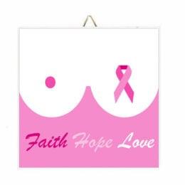 """Ξύλινο Καδράκι """"Faith Hope Love"""""""