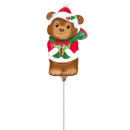 Mini Shape Μπαλόνι Xριστουγεννιάτικο Αρκουδάκι