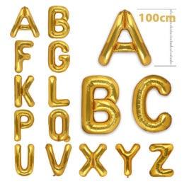 τεράστια μπαλόνια γράμματα χρυσό χρώμα 100εκ