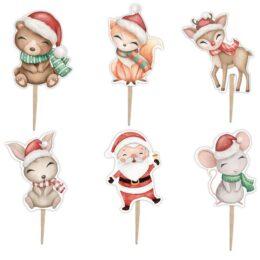Οδοντογλυφίδες πάρτυ Χριστουγεννιάτικα Ζωάκια