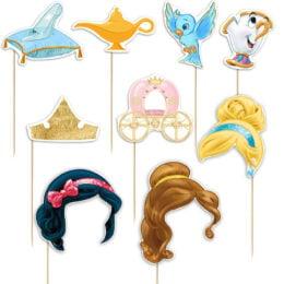 Photobooth Props Πριγκίπισσες Disney (9 τεμ)