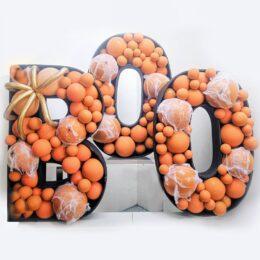 Πλαίσια μπαλονιών φράση BOO