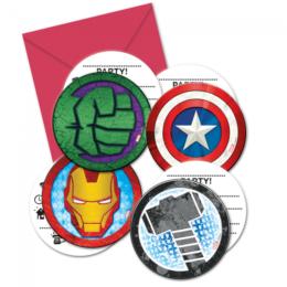 Προσκλήσεις πάρτυ Mighty Avengers (6 τεμ)