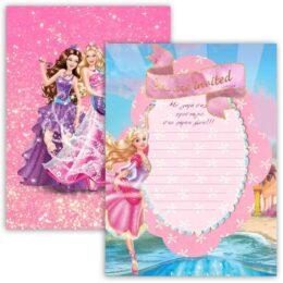 Προσκλήσεις πάρτυ Barbie