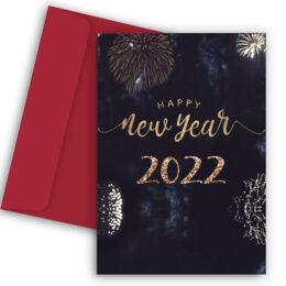 Πρωτοχρονιάτικη Κάρτα Fireworks 2022