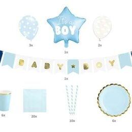 """Σετ διακόσμησης πάρτυ """"It's a Boy"""""""