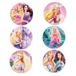 Ξύλινες Κονκάρδες Barbie (6 τεμ)