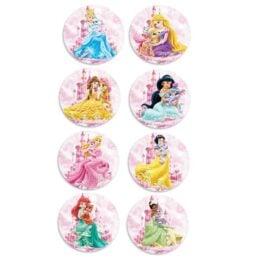 Ξύλινες Κονκάρδες Πριγκίπισσες Disney