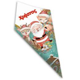 Χωνάκια ζαχαρωτών Χριστουγεννιάτικα Ζωάκια