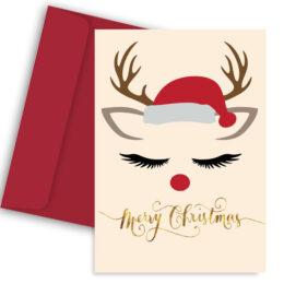 Χριστουγεννιάτικη Κάρτα Ταρανδάκι