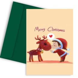 Χριστουγεννιάτικη Κάρτα Christmas Spirit