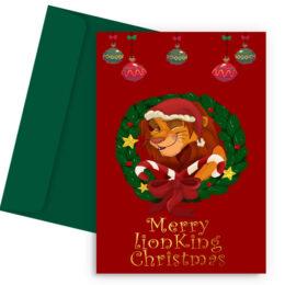 Χριστουγεννιάτικη Κάρτα Lion King