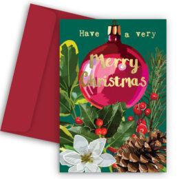 Χριστουγεννιάτικη Κάρτα Very Merry Christmas
