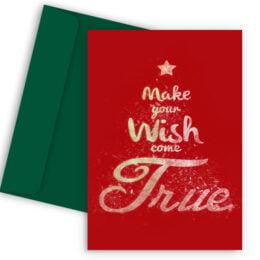 Χριστουγεννιάτικη Κάρτα Wish Come True