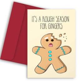 Χριστουγεννιάτικη Κάρτα Rough Ginger Season